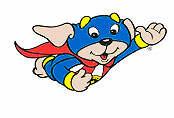 Cartoon superhero dog