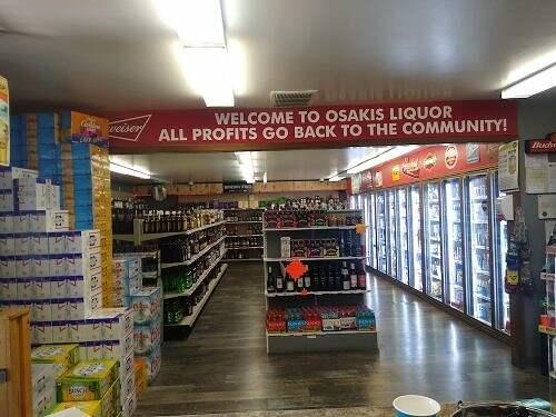 coolers at osakis liquor store